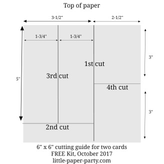 Little Paper Party, 6 x 6 DSP cutting guide