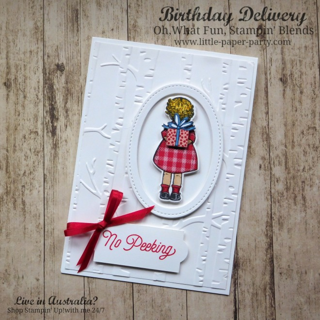 Little Paper Party, Birthday Delivery, Oh, What Fun, Stampin' Blends, #1