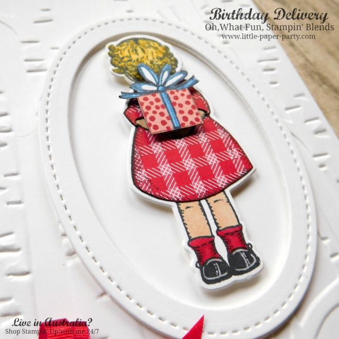 Little Paper Party, Birthday Delivery, Oh, What Fun, Stampin' Blends, #2