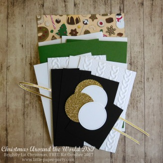 Little Paper Party, Christmas Around the World DSP, Brightly Lit Christmas, FREE Kit October 2017, #1