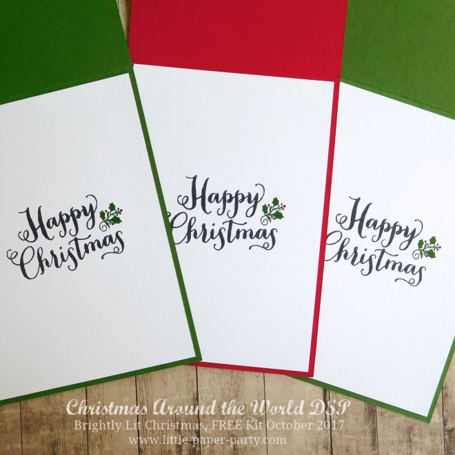 Little Paper Party, Christmas Around the World DSP, Brightly Lit Christmas, FREE Kit October 2017, #4