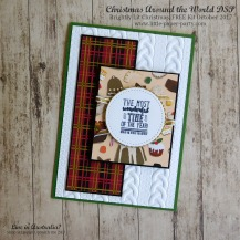 Little Paper Party, Christmas Around the World DSP, Brightly Lit Christmas, FREE Kit October 2017, #5