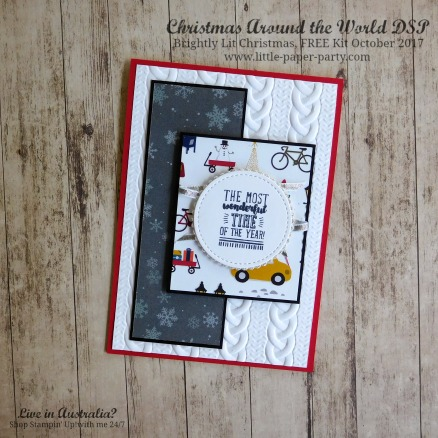 Little Paper Party, Christmas Around the World DSP, Brightly Lit Christmas, FREE Kit October 2017, #6