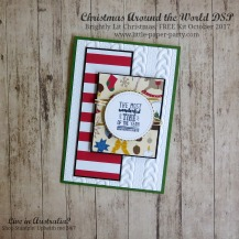 Little Paper Party, Christmas Around the World DSP, Brightly Lit Christmas, FREE Kit October 2017, #7