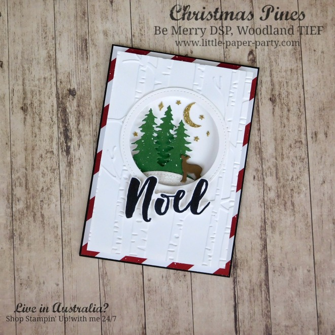 Little Paper Party, Christmas Pines, Be Merry DSP, Woodland TIEF, #1.jpg