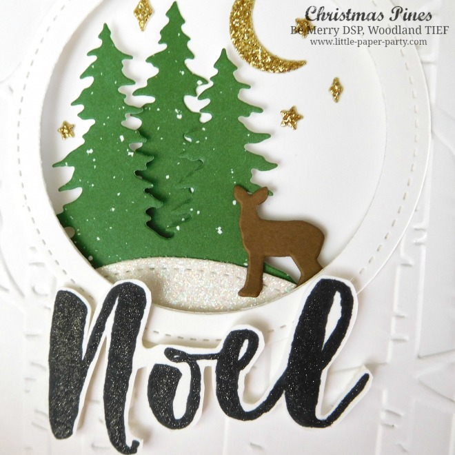 Little Paper Party, Christmas Pines, Be Merry DSP, Woodland TIEF, #3