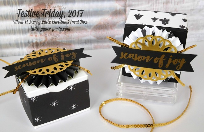 Little Paper Party, Festive Friday 2017, Merry Little Christmas DSP, Christmas Pines, Mini Treat Box, #4