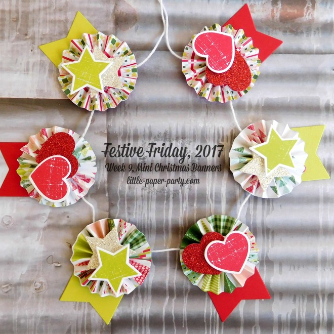 Little Paper Party, Festive Friday 2017, Quilted Christmas DSP, Wood Words Bundle, #3