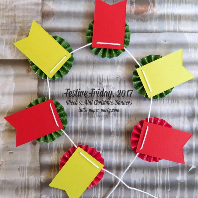 Little Paper Party, Festive Friday 2017, Quilted Christmas DSP, Wood Words Bundle, #5
