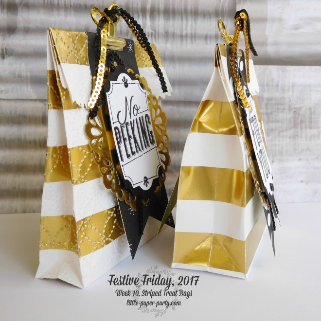 Little Paper Party, Festive Friday 2017, Striped Treat Bags, Merry Little Labels, #3