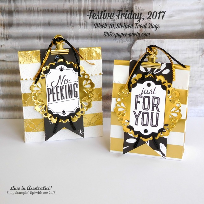 Little Paper Party, Festive Friday 2017, Striped Treat Bags, Merry Little Labels, #4