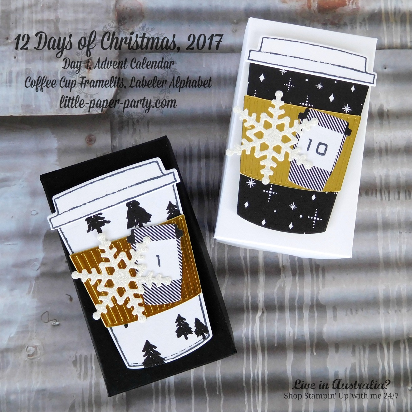 Little Paper Party, 12 Days of Christmas 2017, Advent Calendar, Coffee Cup Framelits, Labeler Alphabet, #3.jpg