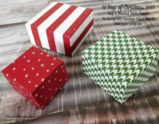 Little Paper Party, 12 Days of Christmas 2017, Be Merry DSP, Envelope Punch Board, #3