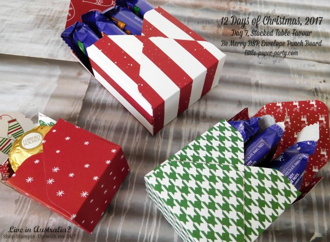 Little Paper Party, 12 Days of Christmas 2017, Be Merry DSP, Envelope Punch Board, #4