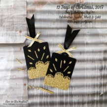 Little Paper Party, 12 Days of Christmas 2017, Celebration Thinlits, Gold Glimmer Paper, Tags #1, #4