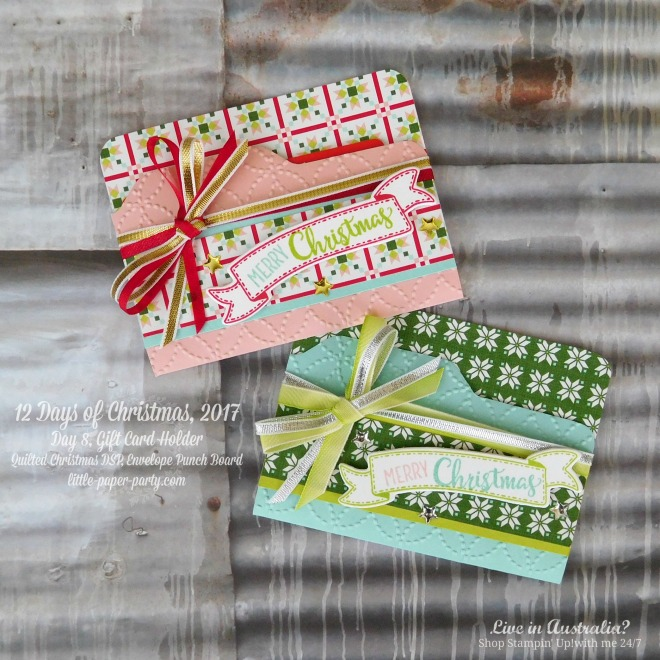 Little Paper Party, 12 Days of Christmas 2017, Quilted Christmas DSP, Envelope Punch Board, Merry Cafe, #1.jpg
