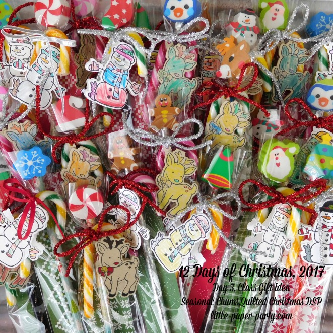 Little Paper Party, 12 Days of Christmas 2017, Seasonal Chums Bundle, Quilted Christmas DSP, #3