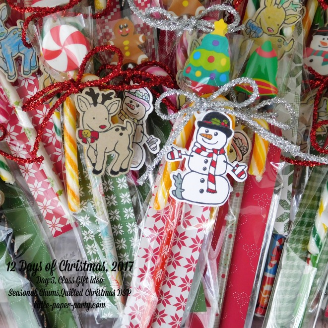 Little Paper Party, 12 Days of Christmas 2017, Seasonal Chums Bundle, Quilted Christmas DSP, #4