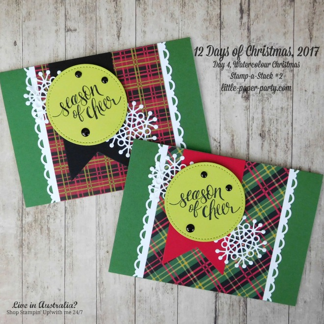 Little Paper Party, 12 Days of Christmas 2017, Watercolour Christmas, Christmas Around the World DSP, #2