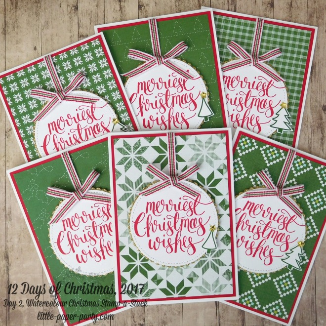 Little Paper Party, 12 Days of Christmas 2017, Watercolour Christmas, Quilted Christmas DSP, #1