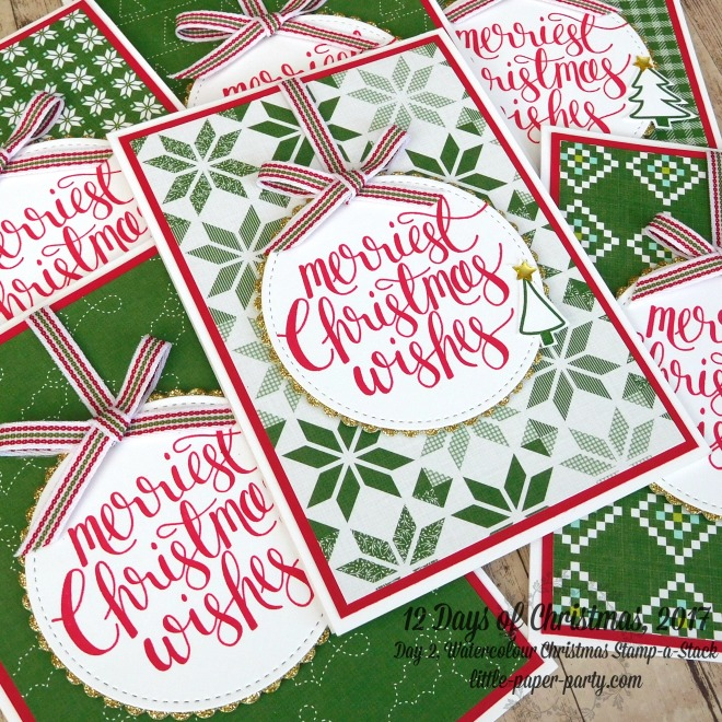 Little Paper Party, 12 Days of Christmas 2017, Watercolour Christmas, Quilted Christmas DSP, #4