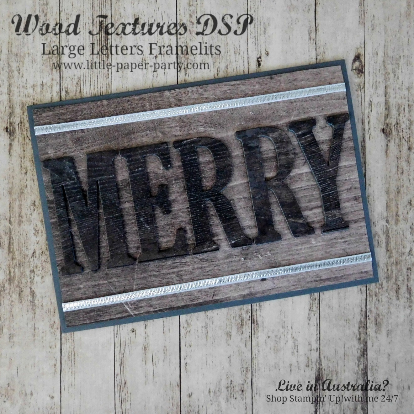 Little Paper Party, Large Letter Framelits, Wood Textures DSP, #1.jpg