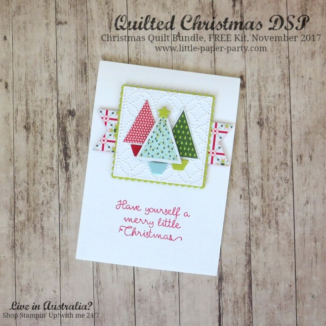 Little Paper Party, Quilted Christmas DSP, Christmas Quilt Bundle, FREE Kit November 2017, #1