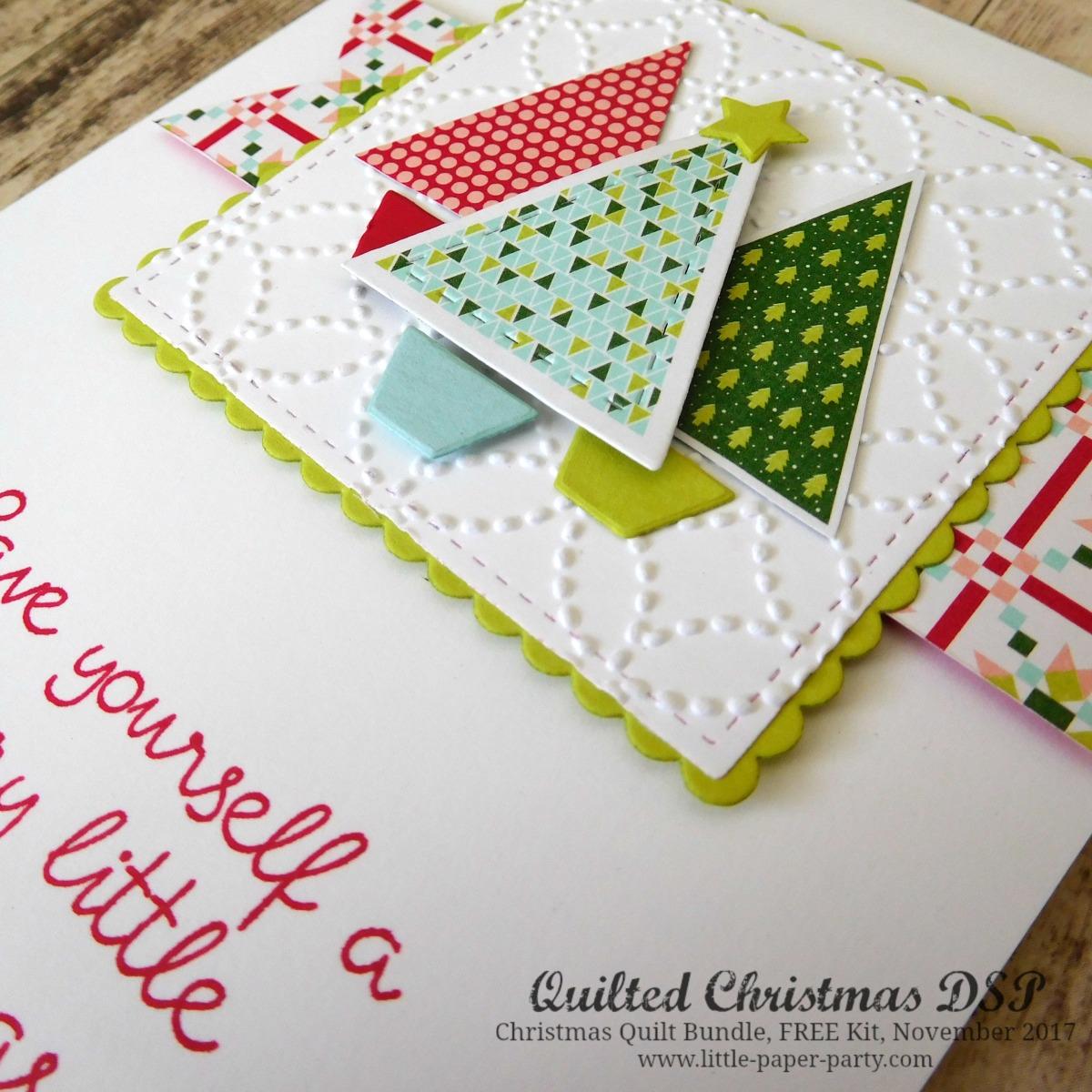 Christmas Quilt, FREE Kit November