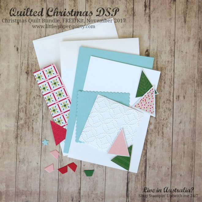 Little Paper Party, Quilted Christmas DSP, Christmas Quilt Bundle, FREE Kit November 2017, #4