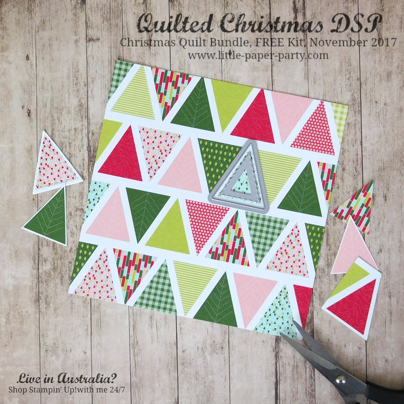 Little Paper Party, Quilted Christmas DSP, Christmas Quilt Bundle, FREE Kit November 2017, #5.jpg