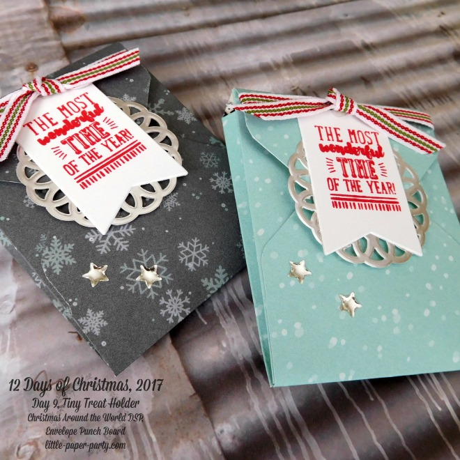 Little Paper Party, 12 Days of Christmas 2017, Brightly Lit Christmas, Christmas Around the World DSP, Envelope Punch Board, #3