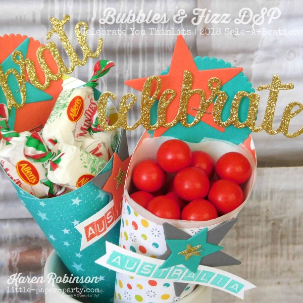 Little Paper Party, Bubbles & Fizz DSP, Celebrate You Thinlits, Australia Day, #11