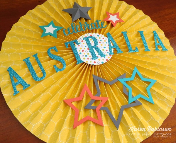 Little Paper Party, Bubbles & Fizz DSP, Celebrate You Thinlits, Australia Day, #5