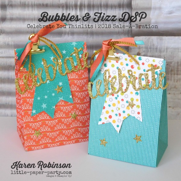 Little Paper Party, Bubbles & Fizz DSP, Celebrate You Thinlits, Australia Day, #9