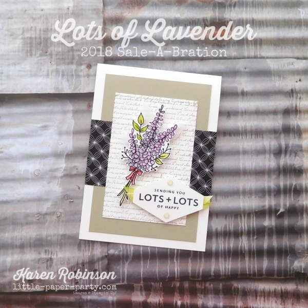 Little Paper Party, Lots of Lavender, Lots of Happy Card Kit, Background Bits, #1