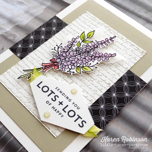 Little Paper Party, Lots of Lavender, Lots of Happy Card Kit, Background Bits, #3
