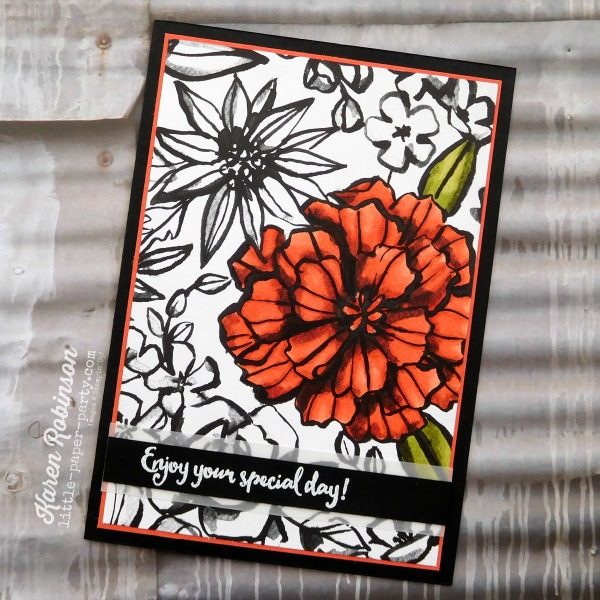 Little Paper Party, Petal Passion DSP, Stampin' Blends Markers, Dragonfly Dreams, #4