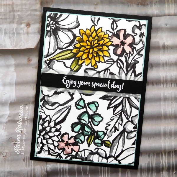 Little Paper Party, Petal Passion DSP, Stampin' Blends Markers, Dragonfly Dreams, #5