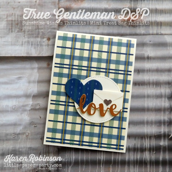 Little Paper Party, True Gentleman DSP, Sunshine Wishes Thinlits, Mini Treat Bag Thinlits, #1