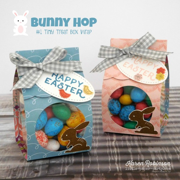 Little Paper Party, Bunny Hop 2018, Hello Easter, Sweet Soiree DSP, Clear Tiny Treat Boxes, #1