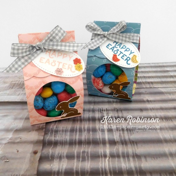 Little Paper Party, Bunny Hop 2018, Hello Easter, Sweet Soiree DSP, Clear Tiny Treat Boxes, #3