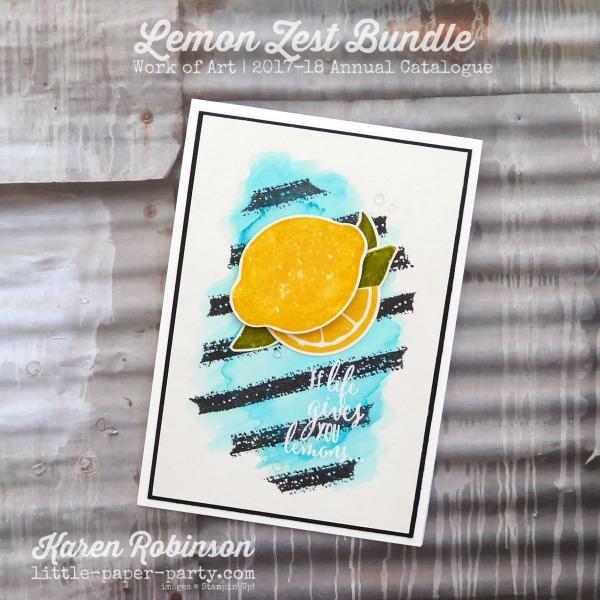 Little Paper Party, Lemon Zest Bundle, Work of Art, #1