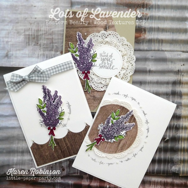 Little Paper Party, Lots of Lavender, Eastern Beauty, Wood Textures DSP, #1