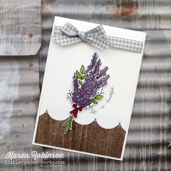 Little Paper Party, Lots of Lavender, Eastern Beauty, Wood Textures DSP, #2