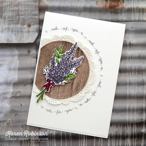 Little Paper Party, Lots of Lavender, Eastern Beauty, Wood Textures DSP, #4