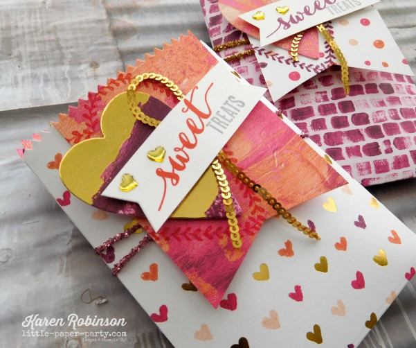 Little Paper Party, Painted with Love DSP, Mini Treat Bag Thinlits, Sure Do Love You Bundle, #3