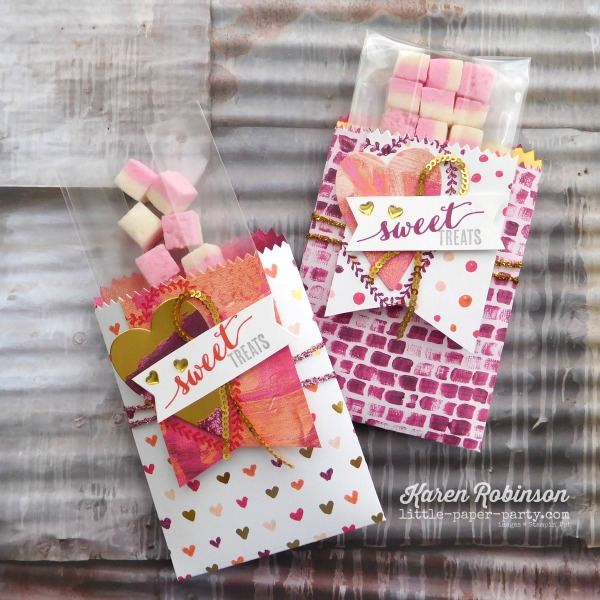 Little Paper Party, Painted with Love DSP, Mini Treat Bag Thinlits, Sure Do Love You Bundle, #4
