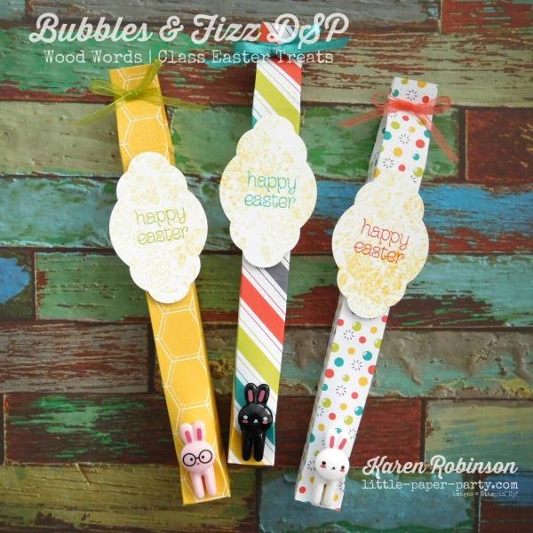 Little Paper Party, Bubbles & Fizz DSP, Wood Words, #3