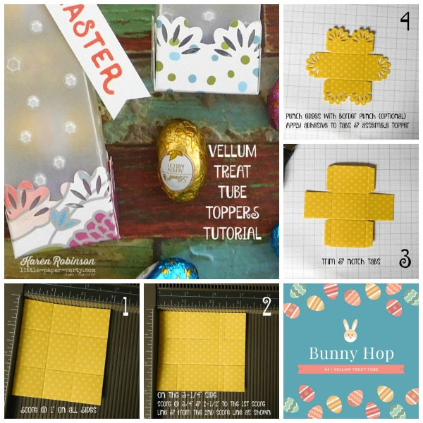 Little Paper Party, Bunny Hop 2018, Hello Easter, Sweet Soiree DSP, Vellum Treat Tube, #1