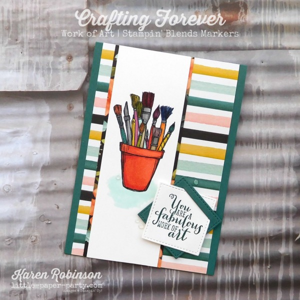 Little Paper Party, Crafting Forever, Work of Art, Stampin' Blends Markers, #1.jpg
